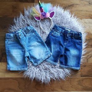 NWOT Girls Sonoma Bermuda Denim Shorts